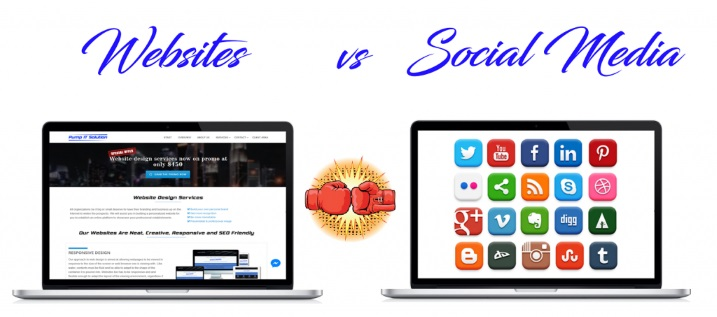 Pump IT Solution Website vs Social Media
